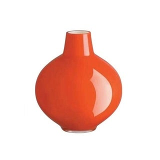 """Majestic Gifts High Quality Glass Pomegranate Shaped Vase -Red -8.75"""" H- Made in Europe"""