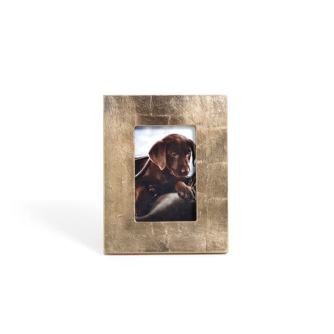 "4"" x 6"" Photo Frame, Gold Finish with Leaf Design"