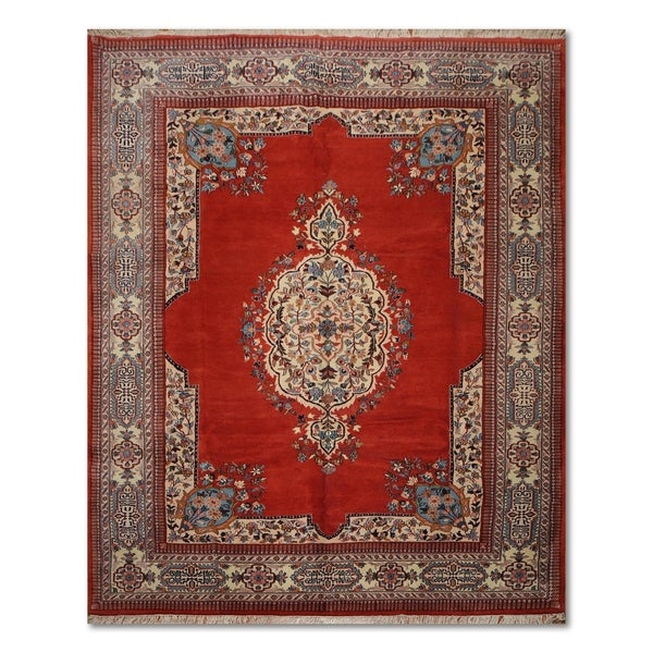 100 Wool Persian Area Rug: Shop Tabriz Floral Hand-Knotted 100% Wool Persian Oriental