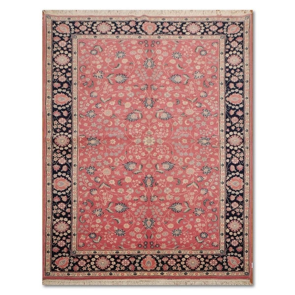 Hand Knotted Persian Wool Area Rug 5 10: Shop Traditional Kashan Hand-Knotted 100% Wool Persian