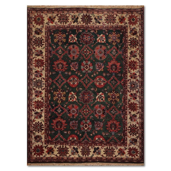 100 Wool Persian Area Rug: Shop Sultanabad Arts & Crafts Romanian Hand-Knotted 100