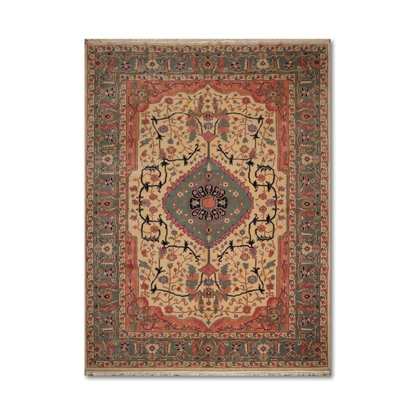 100 Wool Persian Area Rug: Shop Traditional Serapi Romanian Hand-Knotted 100% Wool