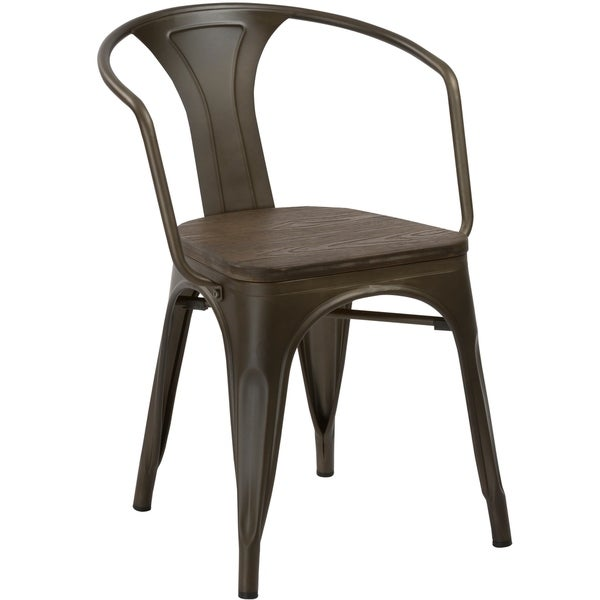 Dining Room Chairs With Arms For Sale: Shop Antique Rustic Metal Wood Dining Arm Chair, Set Of 4