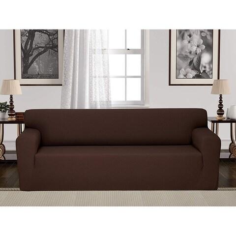Chiara Rose Jacquard Anti-Slip 1-Piece Spandex Elastic Couch Stretch Box Cushion Slipcover