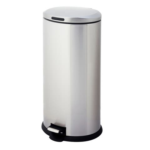 Home Zone Oval 8-gallon Step Trash Can (VA41433A)