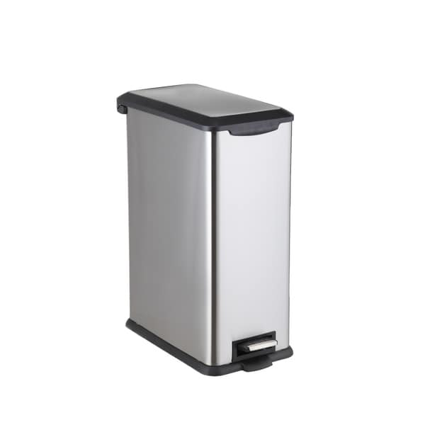 Home Zone Stainless Steel 12 Gallon Step Trash Can Va41371a