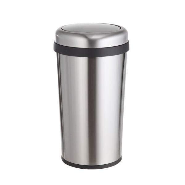 Home Zone Round 12 Gallon Trash Can Va41370a