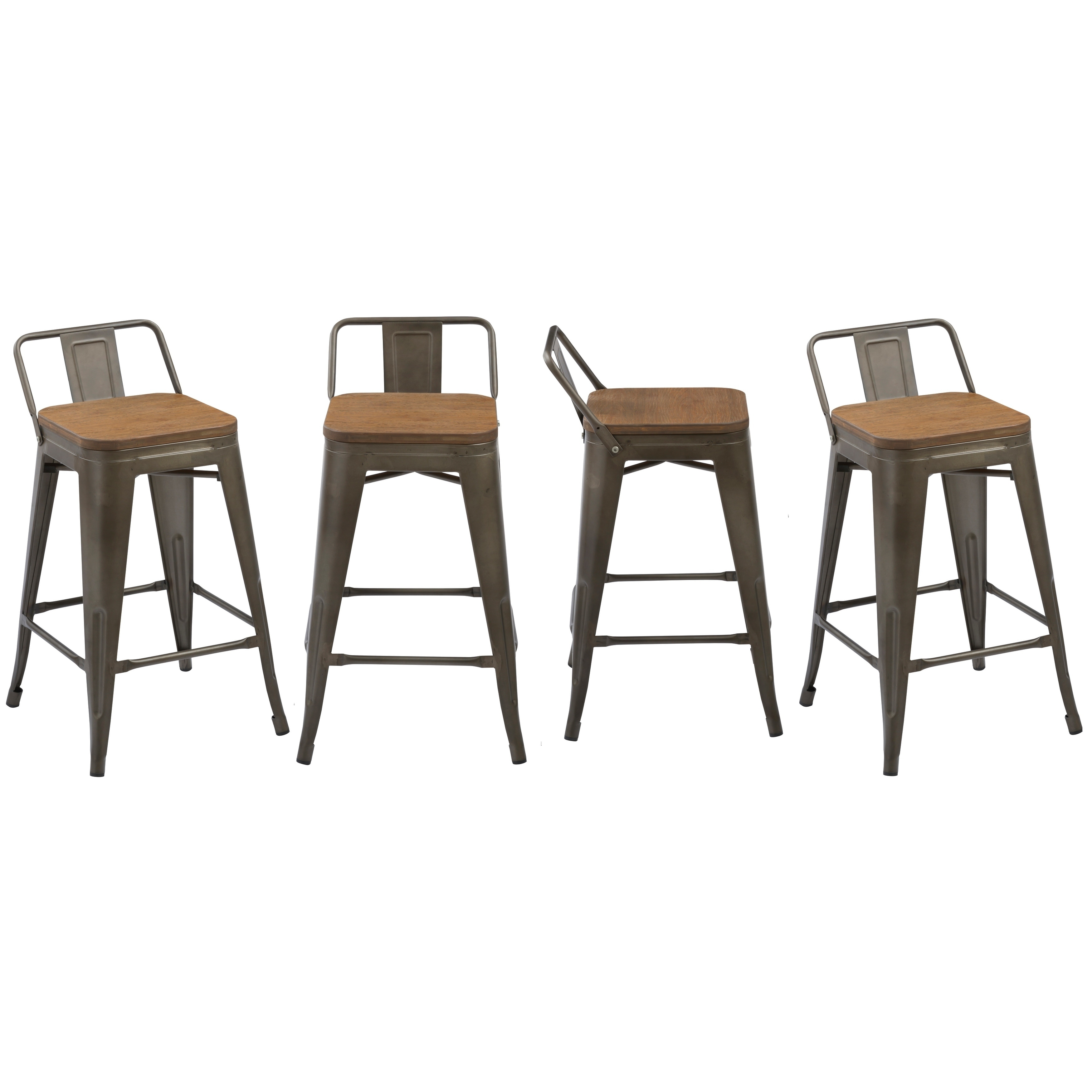 Enjoyable Industrial 24 Rustic Metal Wood Indoor Outdoor Counter Bar Stool Set Of 4 Pdpeps Interior Chair Design Pdpepsorg