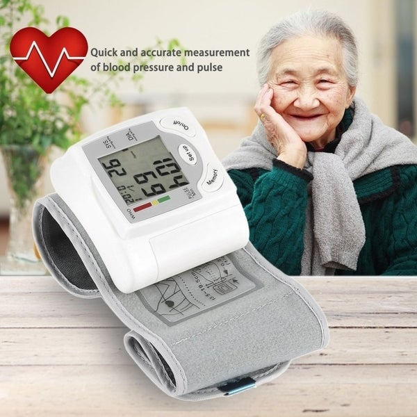 Shop Digital LCD Wrist Blood Pressure Monitor Heart Beat