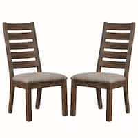 4d215fdcf1e5 Sale  CAD 192.28. Rustic Ladder Back Design Dining Chairs with Nailhead  Trim (Set of 2)