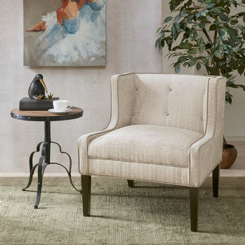 Madison Park Kecks Cream Wingback Tufted Accent Chair
