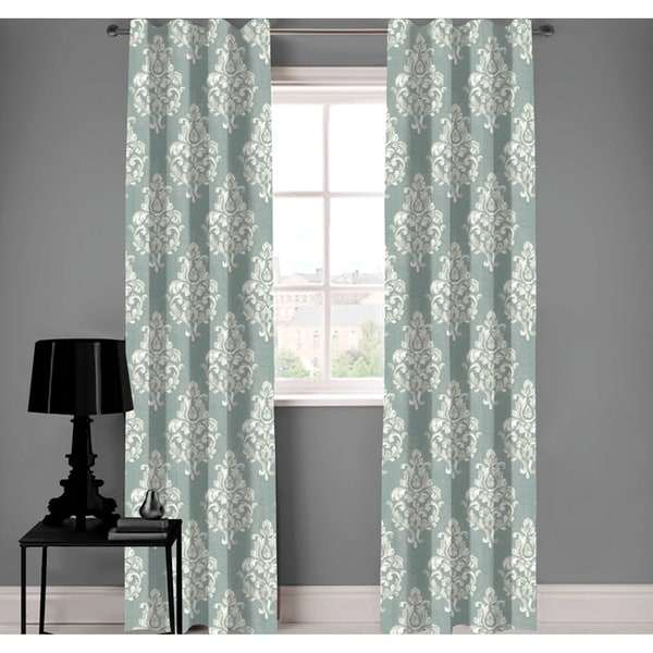 shop a1 home collections designer green white damask organic cotton rh overstock com