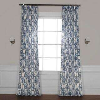 Exclusive Fabrics Fresco Printed Faux Linen Sheer Curtain
