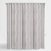 """Stripe Neutral Mira Water Repellent Shower Curtain 72""""X72"""",Free 12-Piece Shower Curtain Rings"""