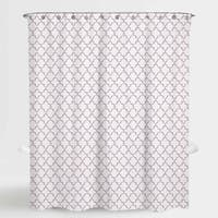 """Ogee Purple Elsa Water Repellent Shower Curtain 72""""X72"""",Free 12-Piece Shower Curtain Rings"""