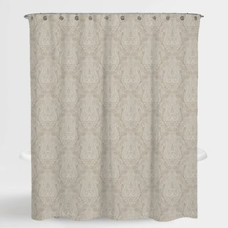 """Paisley Beige Hailey Water Repellent Shower Curtain 72""""X72"""""""
