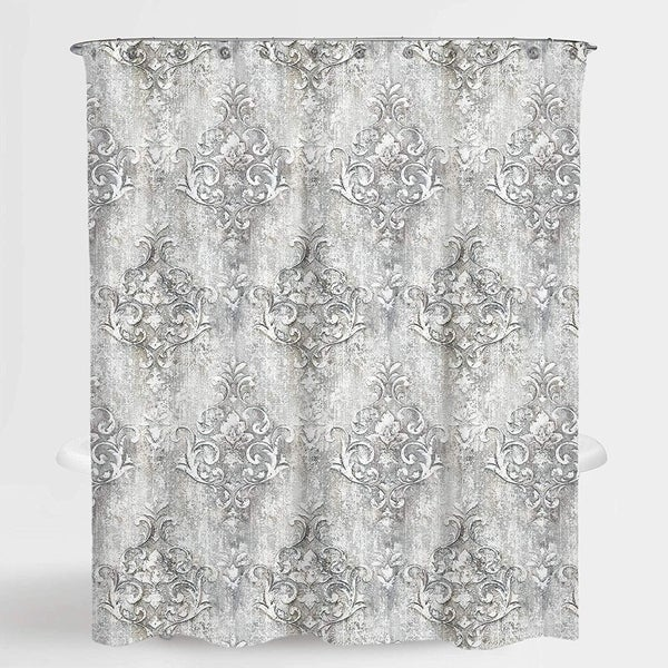 Floral Grey Niece Water Repellent Shower Curtain 72X