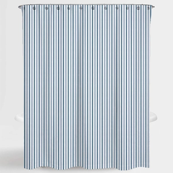 Stripe Blue Two Tone Resa Water Repellent Shower Curtain 72 X72 Free 12