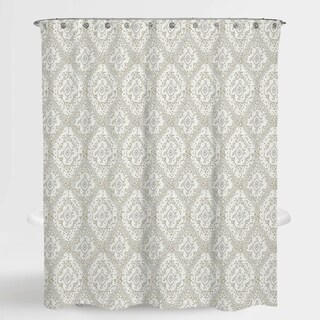 """Damask Beige Richmond Water Repellent Shower Curtain 72""""X72"""""""