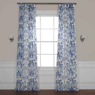 Exclusive Fabrics Xenia Printed Faux Linen Sheer Curtain
