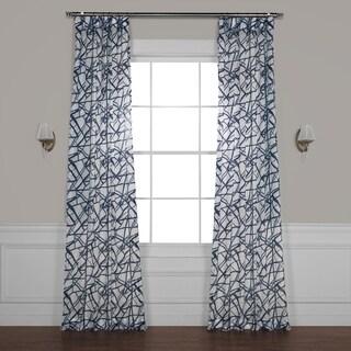 Exclusive Fabrics Matrix Printed Faux Linen Sheer Curtain
