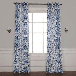 Exclusive Fabrics Xenia Grommet Printed Sheer Curtain