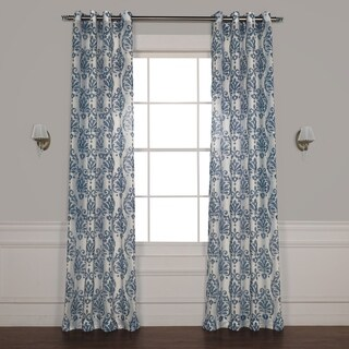 Exclusive Fabrics Fresco Grommet Printed Sheer Curtain