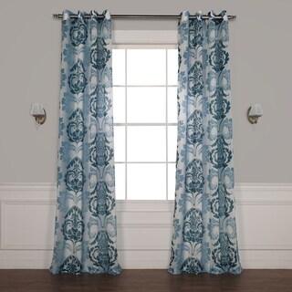 Exclusive Fabrics Damacus Grommet Printed Sheer Curtain