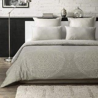 Humus Wrinkle Resistant Reversible Print 100% Organic Cotton Duvet Cover and Sham Set of 2