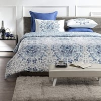 Tiffany Wrinkle Resistant Reversible Print 100% Organic Cotton Duvet Cover and Sham Set of 2