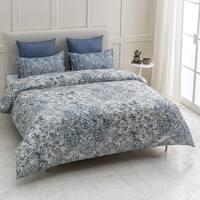 Fiesta Wrinkle Resistant Reversible Print 100% Organic Cotton Duvet Cover and Sham Set of 2