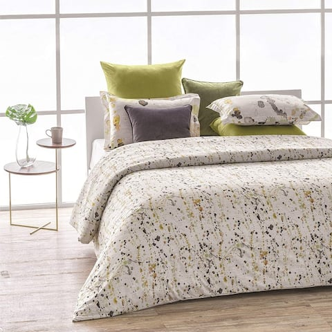 Citronelle Wrinkle Resistant Reversioble Print 100% Organic Cotton Duvet Cover and Sham Set of 2
