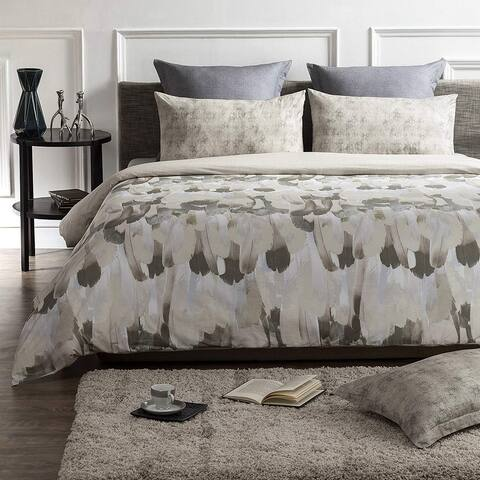 Safari Wrinkle Resistant Reversible Print 100% Organic Cotton Duvet Cover and Sham Set of 2