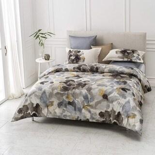 Freshet Wrinkle Resistant Revrsible Print 100% Organic Cotton Duvet Cover and Sham Set of 2