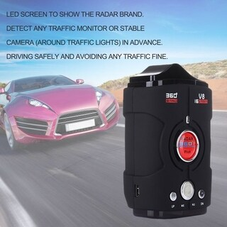 Car Radar Detector V8 360 Degree Bilingual Warning Laser Alarm LED Display