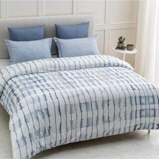 Echelon Wrinkle Resistant Reversible Print 100% Organic Cotton Duvet Cover and Sham Set of 2