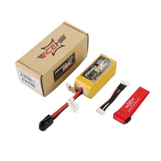 ACEHE 1300mAh 95C 14.8V 4S1P 22.2WH High Rated Lipo RC Battery with XT60 Plug - Yellow - 14.8v 1300mah 95c