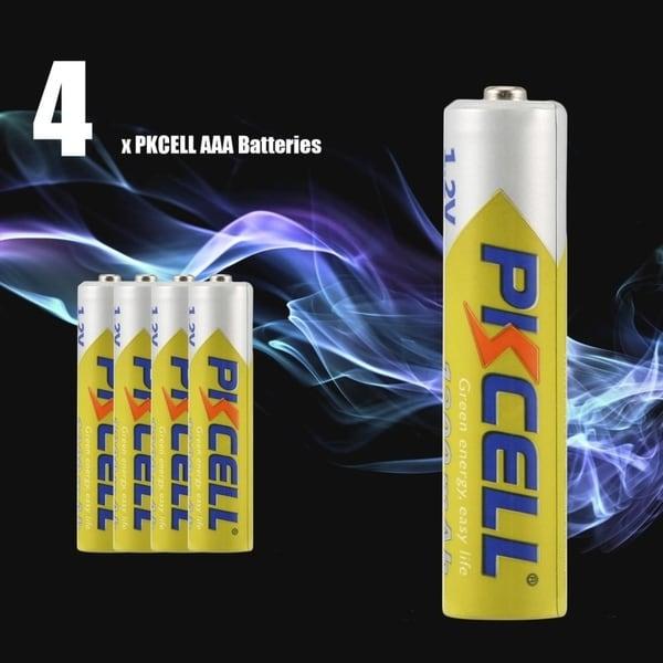 Shop 4pcs PKCELL 1200mAh NI MH Batteries Eco Friendly 12V