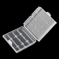 Plastic Battery Storage Box Hard Plastic Case Batteries Holder 6cm×1.5cm×6cm - Transparent
