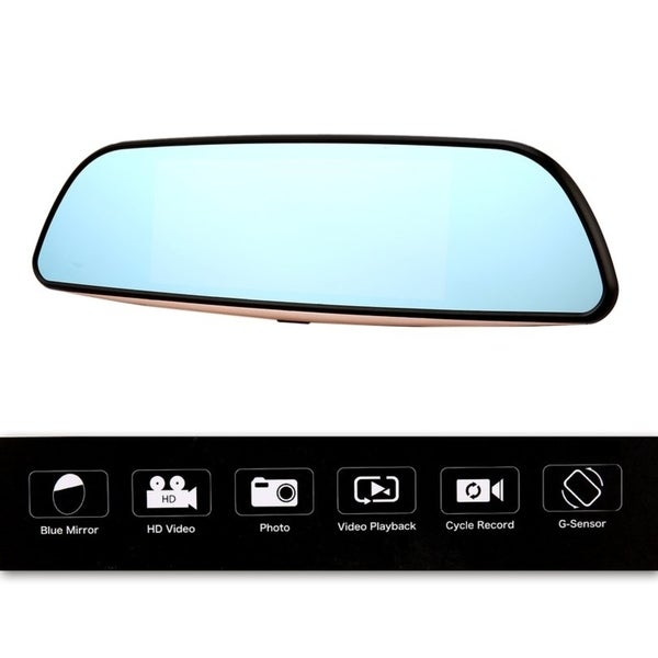 "7"" HD 1080P Smart Car DVR Rearview Mirror Dash Camera Dual Lens 3G WIFI GPS"