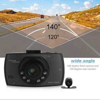 1080P 2.7 Inch HD LCD Double Lens Car Dash Camera Video DVR Cam Recorder - Black