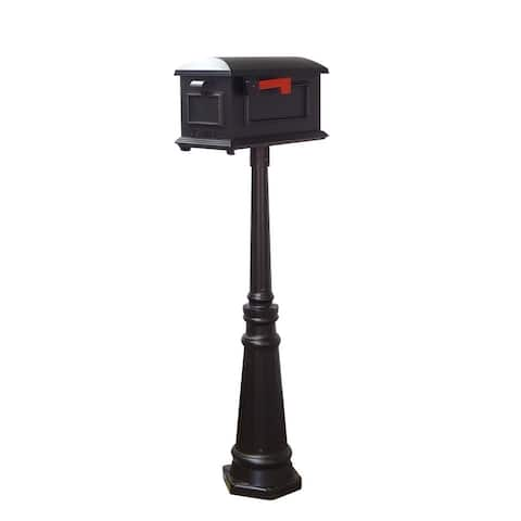 Special Lite Products Traditional Curbside Mailbox and Tacoma Mailbox Post with Direct Burial Kit