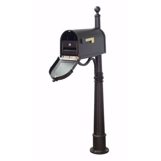 Special Lite Products Berkshire Curbside Mailbox with Locking Insert and Ashland Mailbox Post