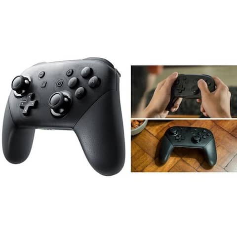 Wireless Gamepad Controller with One Key Wake-up Function for N Switch - black