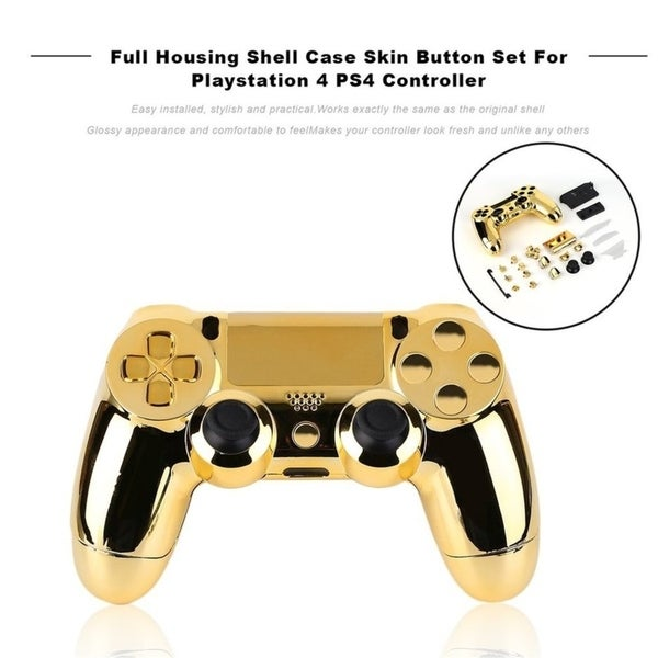 Shop Full Housing Shell Case Skin Button Set For PS4