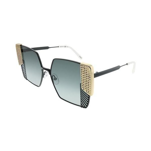OXYDO Square O.NO 2.1 807 1I Women Black Gold Frame Grey Gradient Lens  Sunglasses 4159cbbe62