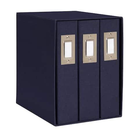 DesignOvation Cydney Set of 3 Fabric Photo Albums in Display Box