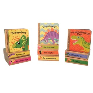 Green Start Little Dinosaur Book Tower - 10 Chunky Books