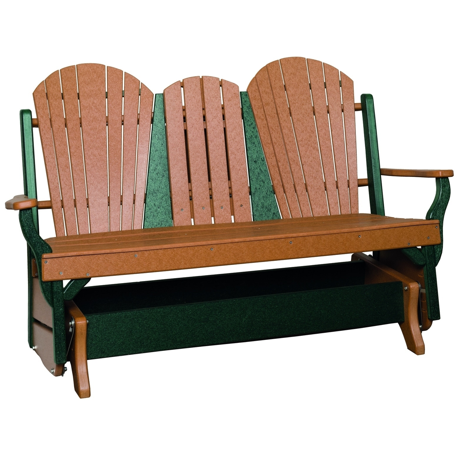 Picture of: Shop Outdoor Glider Bench W Center Drop Down Table Overstock 23116025