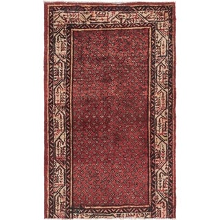 Hand Knotted Botemir Semi Antique Wool Area Rug - 3' 7 x 5' 8